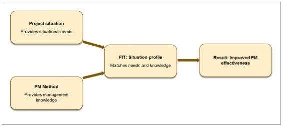 Figure 1 Theoretical framework for situational project management approach