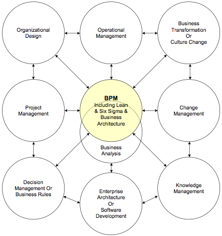 Figure 1. A number of domains of practice found in a large organization.
