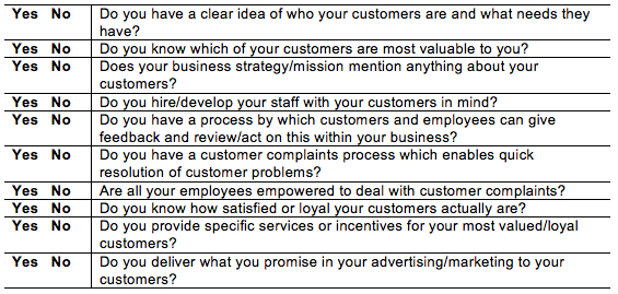 customer-centric checklist